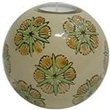 1pc Tealight Candle Holder Kind Of Ceramic Ball Flower Vase (Beige Flower)