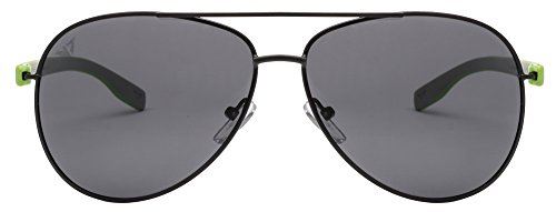 Vincent Chase VC 5192/P Black Green Grey C16 Aviator Polarized Light-Weight Sunglasses (103623)