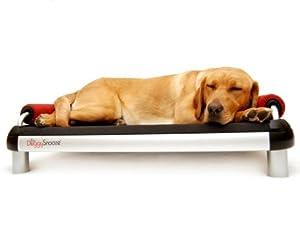 Amazon.com : DoggySnooze Dog Bed - Black-Red - Regular