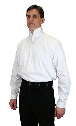 Victorian Men's Shirts- Wingtip, Gambler, Bib, Collarless Victorian Collar Formal Dress Shirt $62.95 AT vintagedancer.com