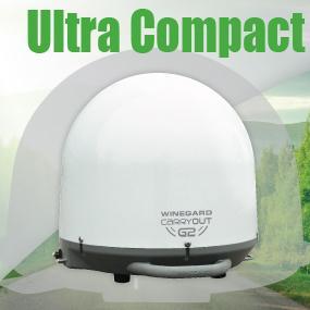 Ultra Compact Portable Satellite Antenna