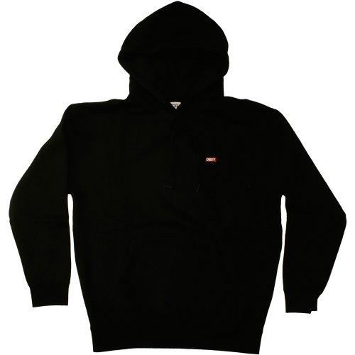 Obey - Sudadera con capucha, color negro Talla:S