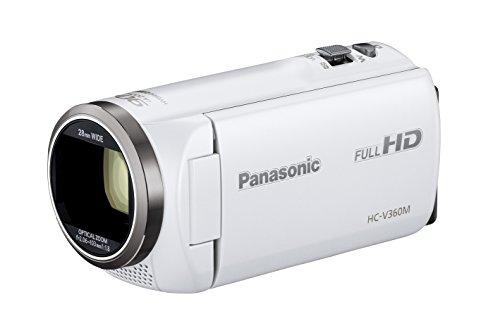 Panasonic HDビデオカメラ V360M 16GB 高倍率90倍ズーム ホワイト HC-V360M-W