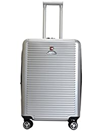 Swiss Military Unisex Silver Hard Top Luggage (HTL13)