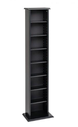 Prepac Black Slim Media (DVD,CD,Games) Storage Tower