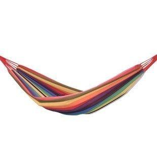 ハンモック カラフル ストライプ柄 コットン 柔らかな手触り キャンプ、昼寝、日光浴などに!