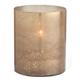 Hagar Short Glass Hurricane Candle Holder