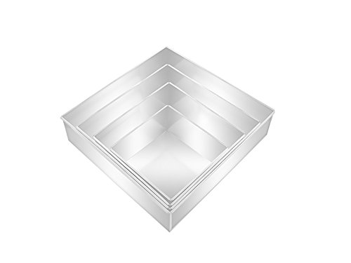 rectangle wedding cake pans square multilayer wedding birthday cake baking pan set of 19058