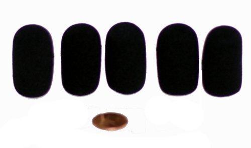 Tetra-Teknica XFFZ5P-BLK Lapel & Headset Microphone Windscreen, Color Black, 5-Pack