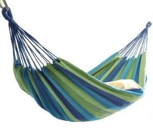 癒し睡眠に!ブーム◆ハンモック2人用◆ブルー◆省エネ効果も!野外・部屋