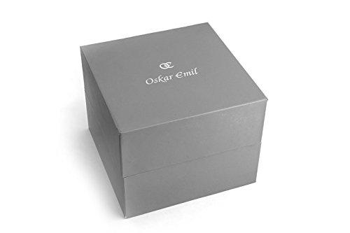 Oskar Emil, klassische Uhren, Uhr Damenuhr Classic Oskar Emil mit Strass blau Iris women'Armbanduhr Analog Silikon blau Blue Iris - 4