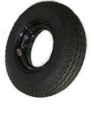 Homaster 8-14.5 Rv Trailer Donut Wheel & Tire Assembly Load Range G Black Rim