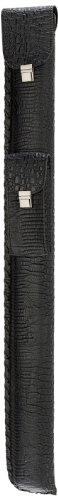 Pro Series LC-S11 Premium Soft Look Crocodile Leatherette Pool Cue Case, Black