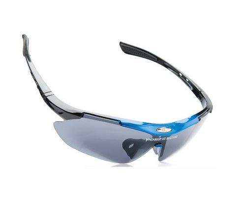 UVカット スポーツサングラス ランニング 釣り  アウトドア (ブルー)