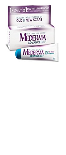 Mederma Advanced Scar Gel - 1x Daily: Use less, save more - Reduces the Appearance of Old & New Scars - #1 Doctor & Pharmacist Recommended Brand for Scars - 0.7 ounce
