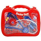 Banggood Set Of Portable Case Doctor Pretend Play Toy Set For Kids Funny Play Red