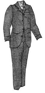 Men's Vintage Reproduction Sewing Patterns 1894 Mens Brown Sack Suit Pattern $17.50 AT vintagedancer.com