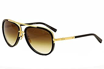 Amazon.com: Dita Mach Two Sunglasses Shiny 18K Gold w