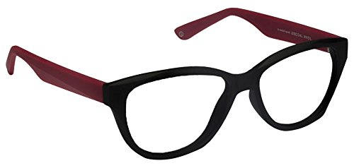 John Jacobs Bold JJ4356 Matte Black Red C2 Women's Eyeglasses(101191)