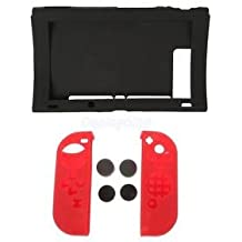 Alcoa Prime Dustproof Silicone Case Gel GuardsThumb Caps For Nintendo Switch Game