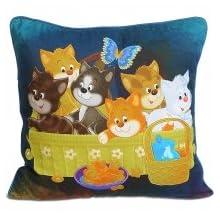 Swayam Kids N More Digital Print Mercerised Cotton Kids Cushion Cover Set - Multicolor (KCC 162-101)