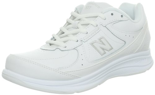 New Balance Women's WW577 Walking Shoe,White,9 B US