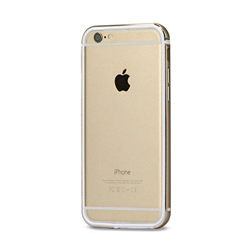 【日本正規代理店品】TUNEWEAR FRAME x FRAME SHOCKMOUNT for iPhone 6s/6 (二重構造バンパーケース) ゴールド/ホワイト TUN-PH-000405