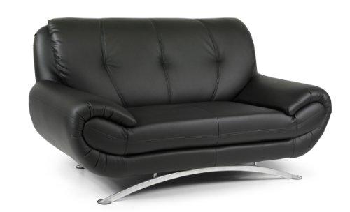 B-famous 2-Sitzer Sofa Spring 172 x 88 cm, Kunstleder, schwarz