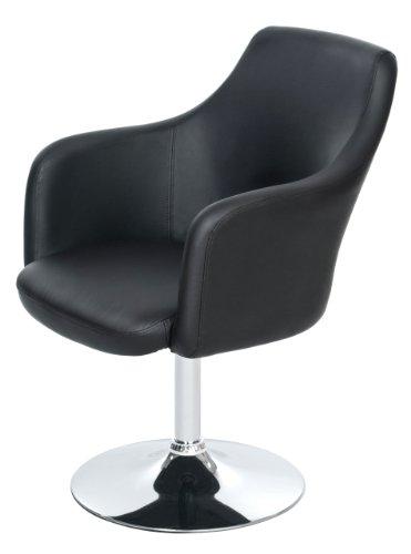 Lounge Sessel von opixeno, aus schwarzem PU-Leder, Cocktailsessel, Barstuhl, Drehstuhl