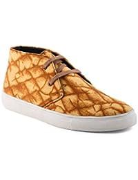 Bruno Manetti Women Faux Leather Tan Sneakers