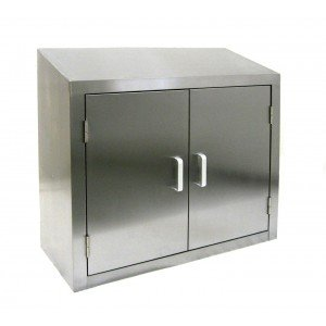 Amazon.com: All Stainless Steel Wall Cabinet w Hinged ...