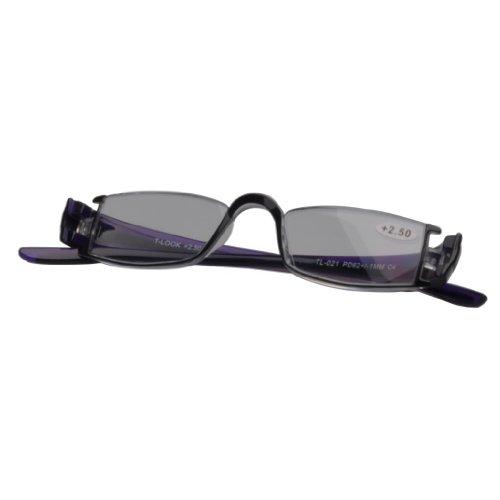 Generic Unisex Acryl Purple Reading Glasses Powers 2.50