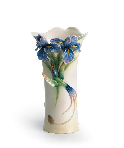 Franz Porcelain Long tail hummingbird vase