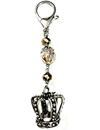 5Elements Golden & Silver Antique Glass & Metal With Nickle Plating Purse Charm