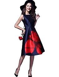 Silverwings Creation Girls Midi Dress (1000104,Navy Blue,Xl)