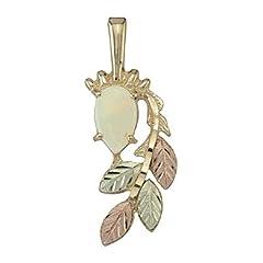 Black Hills Gold 10K Opal Pendant