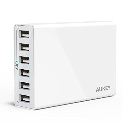 Aukey AIPower 50W 6ポート USB急速充電器 ACアダプター Apple iPad/iPhone/iPod/Xperia/Nexus/Galaxy等対応 (ホワイト)PA-U14