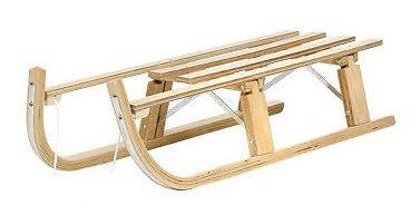 Holzschlitten Rodel Holz Schlitten Davos Davoser 110 cm Klappschlitten Klapp