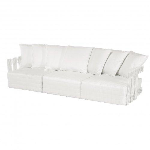 Intrecci Sofa 3-Sitzer weiß/inkl. 3 Sitzkissen/inkl. 7 Rückenkissen