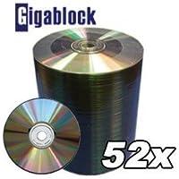 600pcs Gigablock CD-R 52x 700MB 80Min For Music Data Movie Game Software Back Up