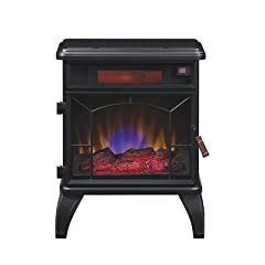 Duraflame DFI-550-0 Mason Freestanding Electric Infrared Quartz Fireplace Stove, Black