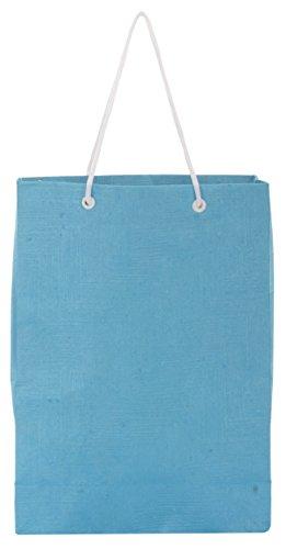 Utsav Kraft Paper 3 Ltrs Light Blue Reusable Shopping Bags Pack Of (10)