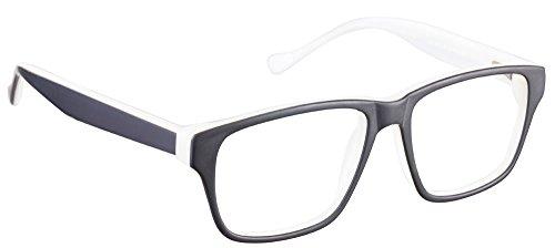 John Jacobs JJ 1355 Matte Black Cream R1R1EO Wayfarer Eyeglasses(95383)