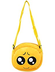 EMOTICON Yellow Colour Sling Bag By JDK NOVELTY (BGSL3951H)