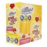 Carnation Breakfast Essentials Grab 'n Go! Breakfast Smoothie Pouch, 5 Pk, Strawberry Banana, 6 Oz