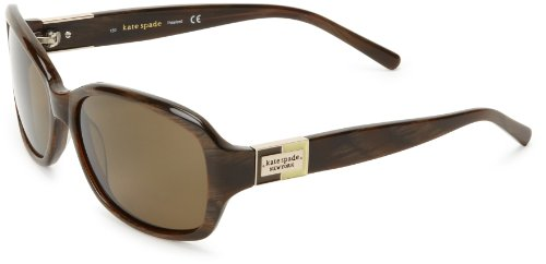 Kate Spade Anniks Rectangular Sunglasses,Brown Horn,56 mm