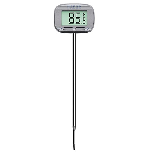 Habor Digital Meat Thermometer 5 Second Instant Read Head-Rotate Cooking Thermometer for...