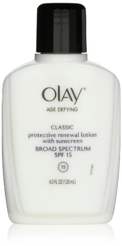 Olay Age Defying Protective Renewal Lotion With Sunscreen Broad Spectrum Spf 15 Facial Moisturizer 4 Fl Oz