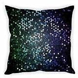 StyBuzz Cushion Cover - Mirror Mosaic Green & Blue