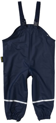 Playshoes Rain Dungarees Textile Lining Easy Fit Boy's Trousers Navy, 2-3 Years (Manufacturer size :98 cm)